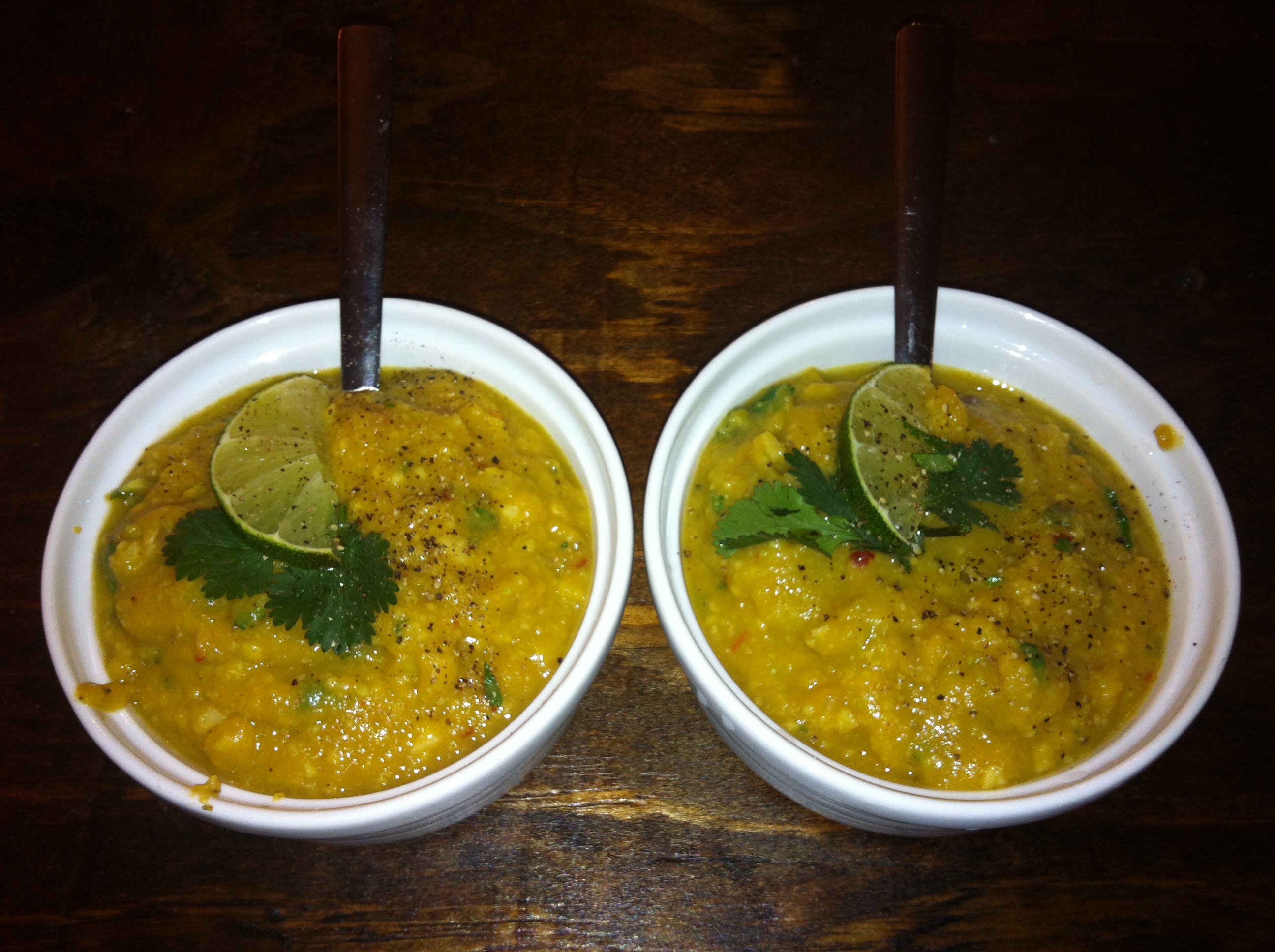 Spicy Butternut Squash and Avocado Soup