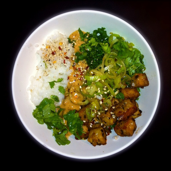Peanut and Tempeh Rice Bowl