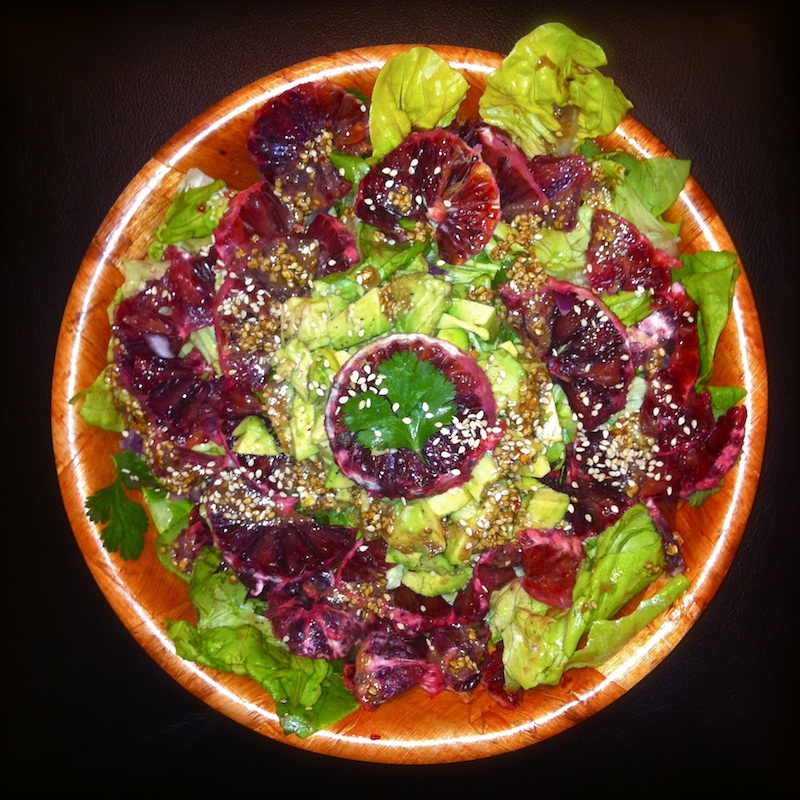 Blood Orange and Avocado Salad with Sesame Miso Dressing