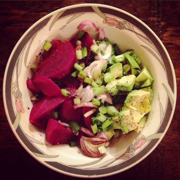 Simple Beet and Avocado Salad
