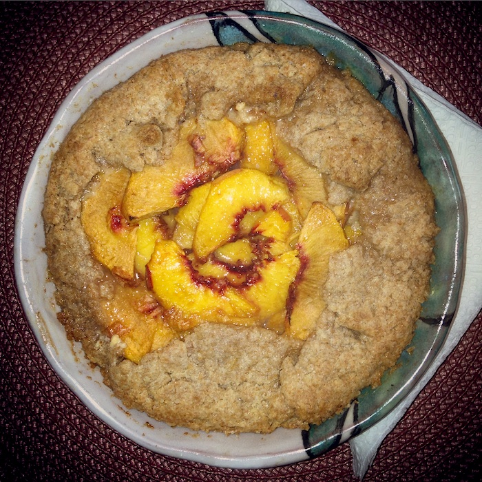 Peach Pie with Almond Cream