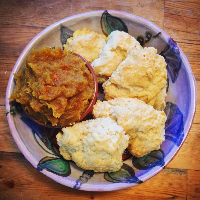 Vegan Biscuits and Spiced Acorn Squash Butter